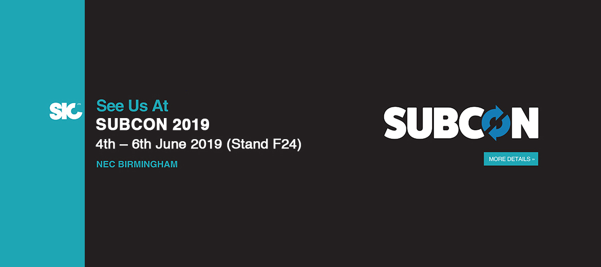 SIC Will be exhibiting in Subcon 2019